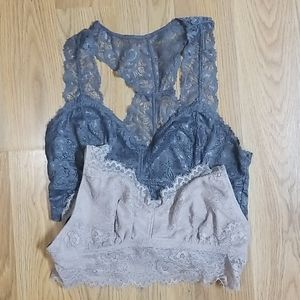 2 bralette Candies and French affair lace bra